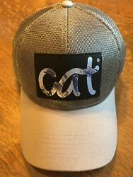 Nwt Unique Cat Caterpillar Two Toned Silvery Hat Cap A19