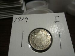 1919 - Canada Dime - Silver - Canadian 10 Cent