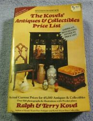 The Kovelsand039 Antiques And Collectibles Price List 16th Edition 1983-84