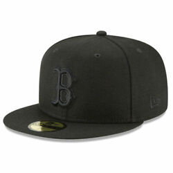 New Era X Mlb Menand039s Collection Boston Red Sox Blackout Basic 59fifty Fitted H...