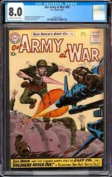 Our Army At War 98 / Blue Label Cgc 8.0 / Sgt. Rock Easy Company