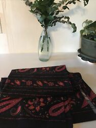 New Souleiado Beautiful Cotton Tablecloth Navy France