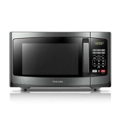 Toshiba Em925a5a-bs Microwave Oven With Sound On/off Eco Mode And Led Lightin...