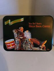 Collectible 1998 Holiday Edition Hills Brothers Coffee Tin - Norman Rockwell
