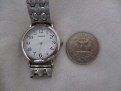 Carriage By Timex Watch Round Face Silver Toned Expansion Band