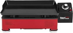 Royal Gourmet Portable Gas Grill Griddle Propane Fueled 9000btu 18 Red Pd1202