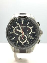 Seiko Astron 8x53-0ab0 Day Date Used Gps Solar Mens Watch Authentic Working