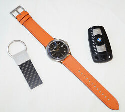 Ball For Bmw Men`s Ladies Luxury Automatic Watch Orange Leather / Swiss Made