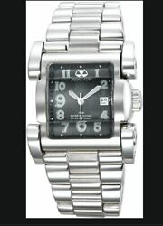 Reactor 83001 Ion Black Mother Of Pearl Dial Stainless Steel Watch