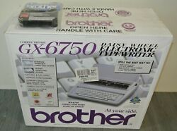 New-brother Gx-6750 Typewriter With New + 2 Fresh Ribbons