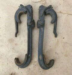 1909 1927 Top Bow Saddles / Clamps Original Pair 78 Model T Ford Dodge