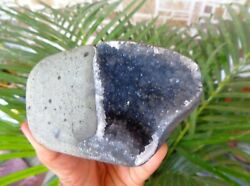Blue Chalcedony Format In Geodes Minerals Specimen A75