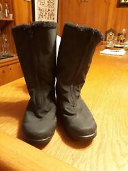 Totes Women#x27;s Size 8W Black Weather Protector Boots Preowned $9.00