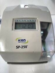 Icon Sp-250 Electronic Time And Date Stamp Tested And Working Missing Key