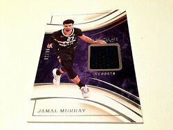 Jamal Murray 2020 Panini Immaculate Coll. Silver Material Game Worn Jersey /99