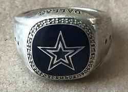 Sterling Silver Dallas Cowboys Team Ring, Marked 925, Size14