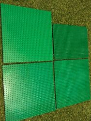 4 Green Grass Lego Base Plate Boards 3 X 32x32 And 1 X 24x32 Stud