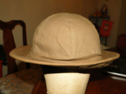 Vintage Wwi Wwii Us Army Brown Color Denim Bucket Hat. Size 7 1/8 Rare