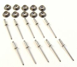 Stainless Steel Snap Studs With Stainless Steel Rivets 10 Pc. Set