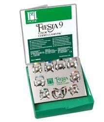 Coltene H09966 Hygenic Fiesta 9 Winged Color Coded Clamp Pak.