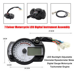 12v Motorcycle Led Backlight Odometer Speedometer Meter Digital Gauge Tachometer