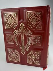 Holy Bible King James Version Red Leather Ptl Club Extensive Study Jim Baker