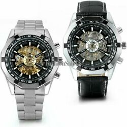 Skeleton Dial Menand039s Stainless Steel Automatic Mechanical Watch Wrist Watch Gift