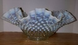 Fenton Clear French Opalescent Hobnail Double Crimped 11 1940-1955