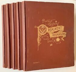 Portrait Gallery Of Prominent Freemasons Throughout The United States 1st 1892