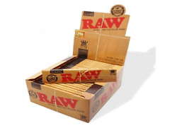 Raw Classic King Size Slim Rolling Paper Full Box Of 50 Packs - On Sale Now
