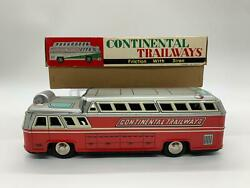 Rare Vintage Continental Trailways Tin Toy China Mf776 With Box
