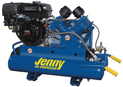 Jenny 9hp 8 Gallon 1 Stage Truck Mount Gas Powered Air Compressor 15cfm G9hga-8p