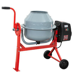 1.6 Cu./ft. Electric 150w Low Profile Concrete Cement Mixer Barrow Mixing Mortar