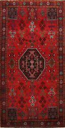 Traditional Tribal Abadeh Area Rug Oriental Medallion Hand-knotted Carpet 6x10