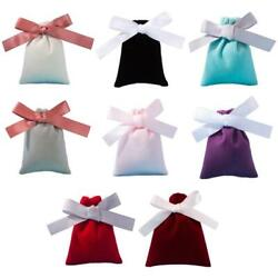 50Pcs 7x9cm Jewelry Velvet Bags with Ribbon Flannel Pouches Gift Packing Decor $17.35