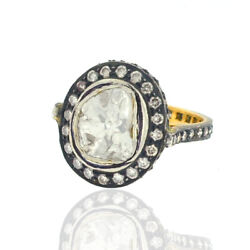 1.94ct Diamond 14kt Gold Sterling Silver Handmade Ring Jewelry