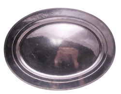 And Co. Hammered Sterling Silver Oval Serving Platter/ Tray
