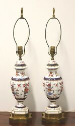Antique French Limoges Table Lamps - Pair