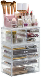 4 Piece Cosmetic and Makeup Organizer X Large 9 Drawers 16 Compartment Slots $39.99
