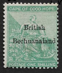 1886 Cape Of Good Hope Bechuanaland 1 Sh Mint Hinged - Scarce Stamp Sg £375