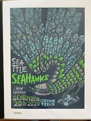 Seattle Seahawks Gameday Poster Limited Edition 2020 Season Complete Set