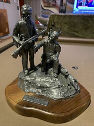 """Together A New Beginning""""pewter Figurine By Michael A. Ricker Signed 80/125"""