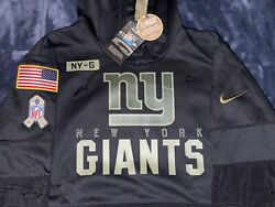 Authentic New York Giants Salute To Service Military Nike Sideline Hoodie