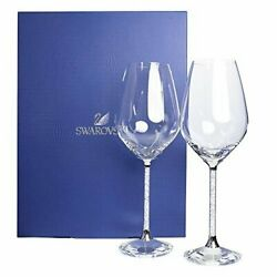 Wine Glass Pair Set Crystal Line Silver 523.7 Cm Kitchen From Japan