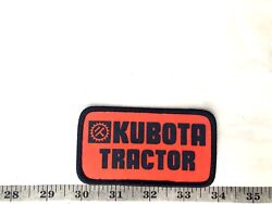 Kubota Tractor Red And Blue Edge Embroidered Iron-on Patch-nice
