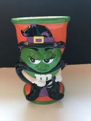 Halloween Candy Dish Mandm Green Witch Ceramic Cup Goblet Galerie