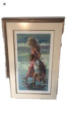 Lucelle Raad Artist Proof 5/20 Lithograph Sunday Stroll Signed Framed Matted Lg