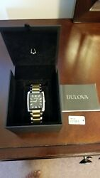Bulova Menand039s Classic 98a149 Gold Stainless-steel Quartz Watch
