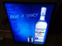 Jose Cuervo Tequila Silver Have A Story Led Light Up Sign 23 X 17 New Cool