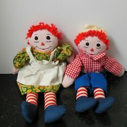 Vintage Handmade Raggedy Anne And Andy Dolls